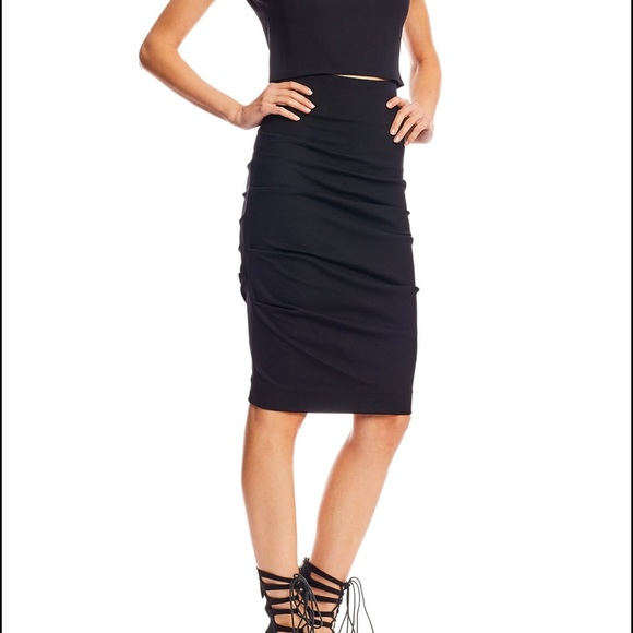 Nicole Miller Womens Sandy Ponte Skirt