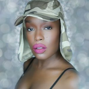 Beige army fatigue hat