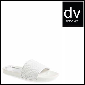 DV by Dolce Vita Shoes - SANDALS Embossed Flats Slides