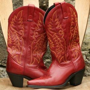 Laredo Shoes - Laredo Madison all leather red Cowboy boots