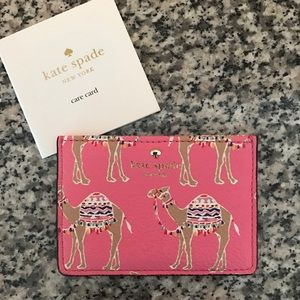Kate Spade Camel Card Case NEW