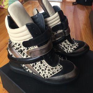 Monika Chiang Shoes - Monika Chiang Stud Sneaker Wedges