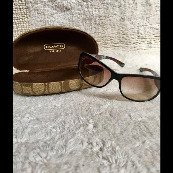 b5b265e3780ce Coach Accessories - COACH Black Sarah (S437) Sunglasses
