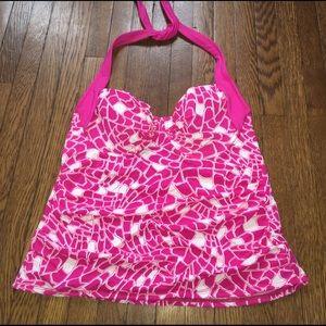 VM Other - Vm pink white Tankini top new swim Halter suit 16w