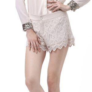 ROMWE Pants - 30% OFF BUNDLES Romwe Lace Shorts LIKE NEW