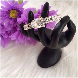 Jewelry - ❤️ Silvertone Buckle Bracelet NIB