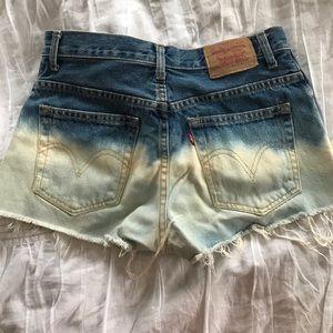 Levi's Pants - Levi renewal dip dyed vintage Jean shorts