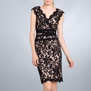 Tadashi Shoji Dresses - Tadashi Shoji Embroidered Lace V-Neck Dress
