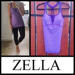 NEW Zella Showstopper strappy tank in purple jelly