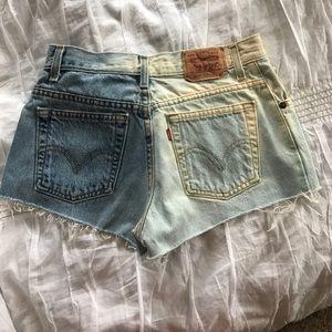 Levi's Pants - Vintage dip dyed Levi Denim cut offs multi washes
