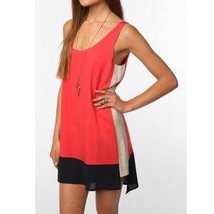 Sparkle & Fade Tops - Color Block Tunic (Urban Outfitters)