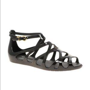 Melissa Shoes - Melissa Violatta Gladiator Black Sandals  8