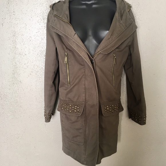 2da457cdcdf65 Vince Camuto Studded Military Field Jacket. M_58c9aed4d14d7b705a042ded