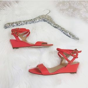 J. Crew Shoes - J.Crew Italian Leather Sandals California Poppy