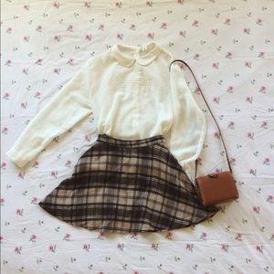 American Apparel Dresses & Skirts - American apparel brown plaid skirt