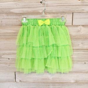 Hot Topic Dresses & Skirts - Lime Green Tulle Skirt & Suspenders