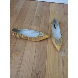 Gianfranco Ferre Shoes - Ferre pleated silk & leather stiletto flats 41