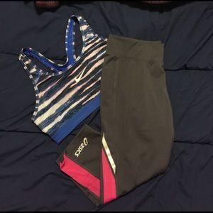 Asics Pants - Asics capri workout pants