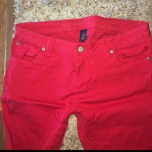 Blue Asphalt Denim - Red Skinny Jeans