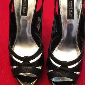 HPSALEWHBM- NWT Black Leather Pumps