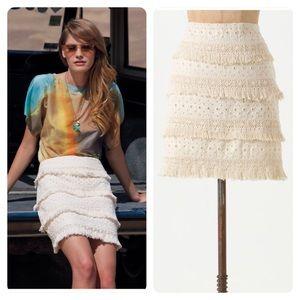 Anthropologie Dresses & Skirts - Anthropologie HD In Paris Tiered Fringe Skirt