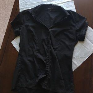 Express Tops - Express woven short sleeve