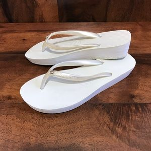 Havaianas Shoes - NWOT Havaianas High Light Glamour Wedge Flip Flop
