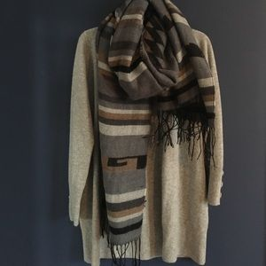 Aztec oversized blanket scarf