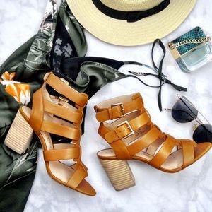 Cognac Cage Sandals