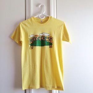 Vintage Tops - Ridgecrest Sunny Yellow Vintage Tee