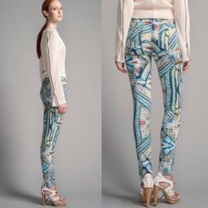 Hues of Blue and Coral Rag & Bone Jeggings