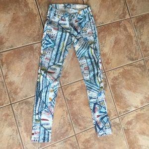 rag & bone Jeans - Hues of Blue and Coral Rag & Bone Jeggings