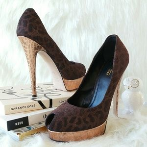 493a2d8215b Sebastian Milano Shoes - SEBASTIAN MILANO leopard print peep toe pumps