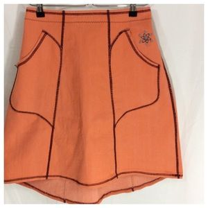 Dresses & Skirts - Orange Stretch Skirt