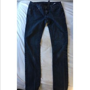 City Streets Denim - City Streets Dark Blue Skinny Jeans - Size 1