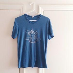 Vintage Tops - Barbados Island Vintage Blue Tee