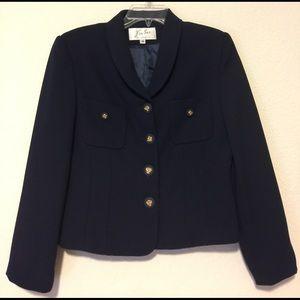 Jackets & Blazers - Vintage Dark Blue Blazer