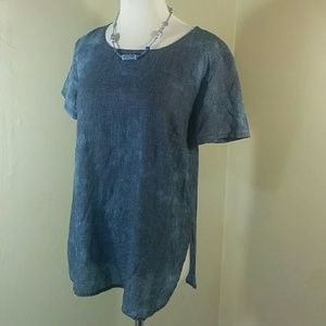 Anthropologie, Cloth & Stone blue top