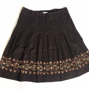 LOFT Dresses & Skirts - LOFT Pleated Skirt with Sequins
