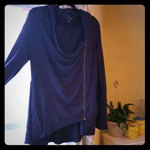 Market and Spruce Asymmetrical zip cardigan Sz XL