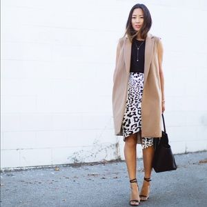 Keepsake asymmetric leopard skirt