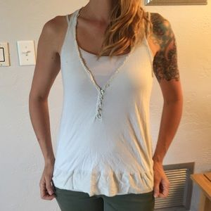 Ruehl No. 925 Tops - Ruehl pale blue tank