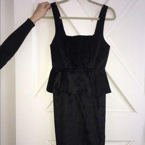 Alice & Olivia black peplum dress