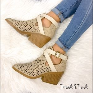 Threads & Trends Shoes - 🌸🆕 Lazer Pattern Monochromatic Booties