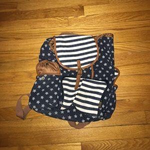Target backpack, stars & stripes.
