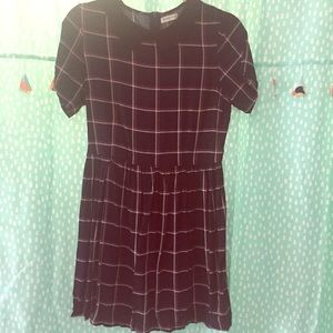 Vintagey Collar Plaid Dress