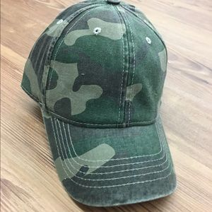 Accessories - Distressed Camo Camoflauge Hat Baseball