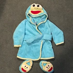 Baby Starters Other - Frog bathrobe and slippers set