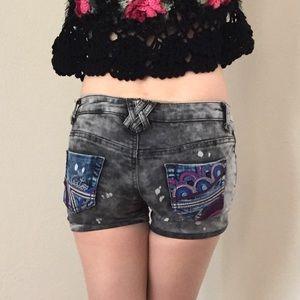 Custo Barcelona Pants - CUSTO BARCELONA Low Raise Distressed Jeans Shorts