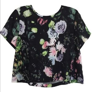 MADE for Impulse Tops - MADE Short Sleeve Floral Crop Top